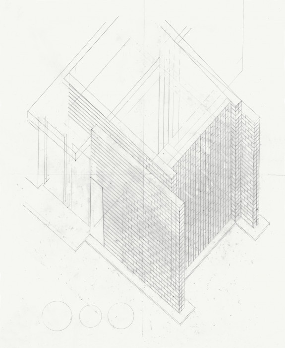 An aerial-view blueprint illustrates a rectangular entryway with brick detail.