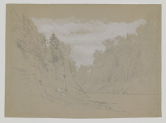 Colman, Ausable Gorge in the Adirondacks, 1870