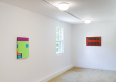 <p>Mary Heilmann, installation view, The Dan Flavin Art Institute, Bridgehampton, New York. © Mary Heilmann. Photo: Bill Jacobson Studio, New York</p>