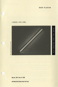 Flavin, Dan, (1962-63, 1970, 1996) brochure cover