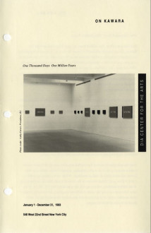 Kawara, On 1993 brochure cover