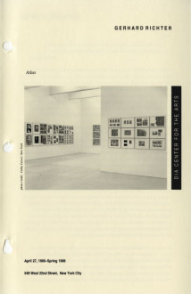 Richter, Gerhard, Atlas brochure cover