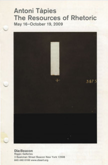 Tapies, Antoni, The Resources of Rhetoric brochure cover
