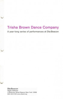 Trisha Brown Dance Company brochure cover