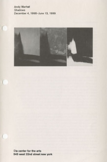 Warhol, Andy Shadows 1998-99 brochure cover