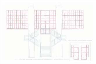 Irwin_Rendering of West Elevation Additional Window Treatment EntranceExits, Garden Staircase_2000_H